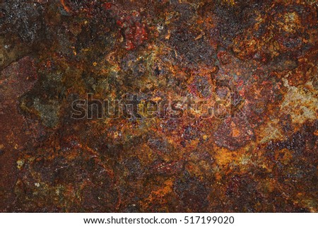 rusted steel- rusty metal background. State of the material after the oxidation processes