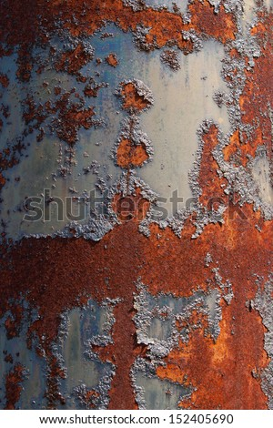 rusted surface