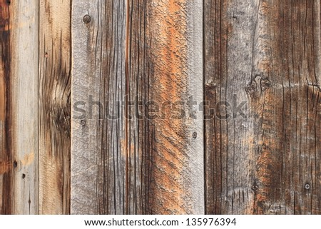 Rustic aged barn wood background. - stock photo