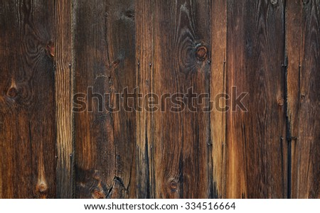 Rustic barn wood background with knots - stock photo