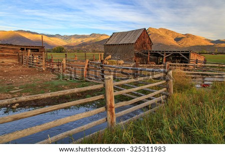 Rustic Barn Yard In Rural Utah USA
