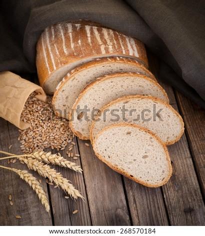 Rustic bread - stock photo