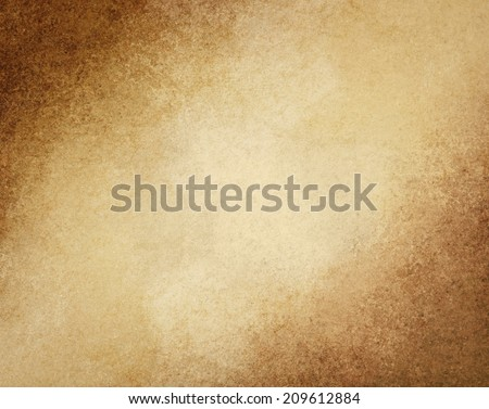 rustic brown grunge background with darker brown grungy border and vintage texture design, earthy warm color tones - stock photo
