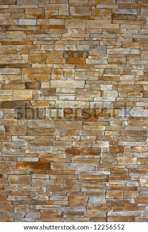 Rustic Brown Stone Wall Background Portrait