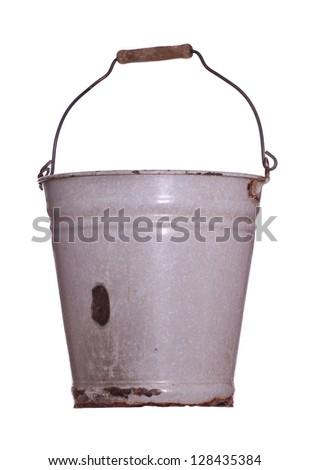 rustic bucket - stock photo