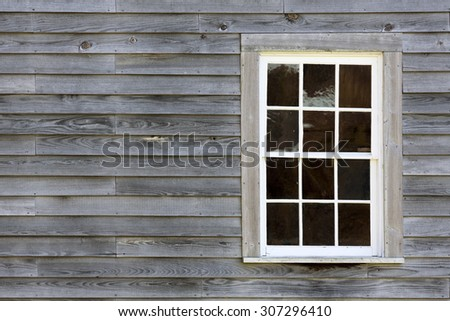 rustic clapboard wall with window background