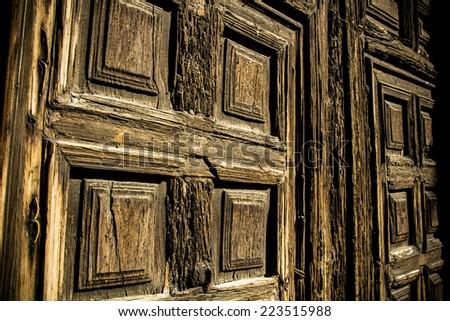 Rustic Door - stock photo