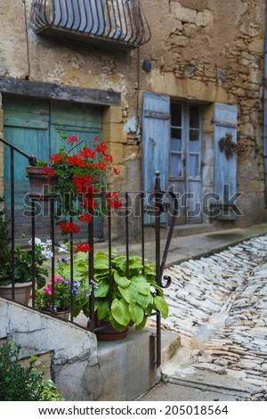 Rustic door in Dordogne, France  - stock photo