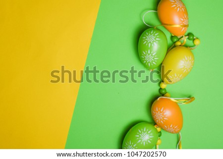 Rustic Easter background