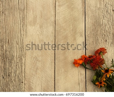 Rustic Fall Background Stock Photo Royalty Free 697316200