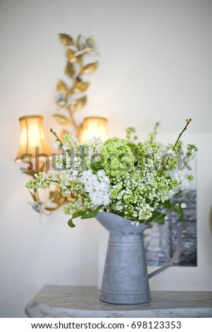 Rustic Flower Arrangement In Jug