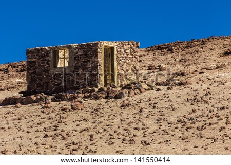 Rustic House on the desert - stock photo