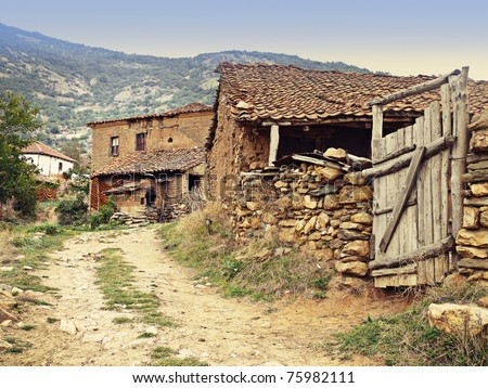 Rustic Mediterranean village - stock photo