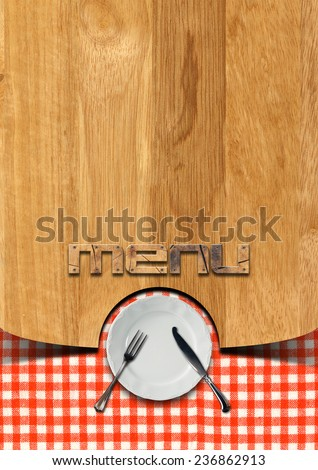 Rustic Menu Template Wooden Brown Background Stock Photo (Edit Now ...