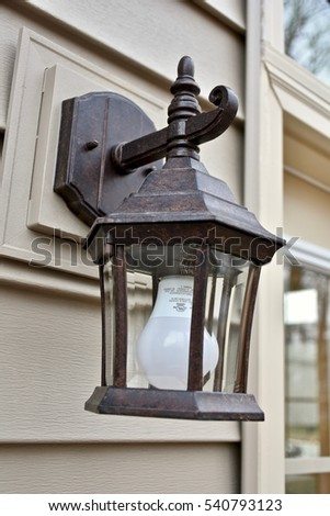 rustic outdoor light fixture