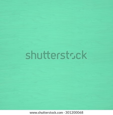 Rustic Painted Plain Pine Wood Board Background with Grain and Extra Space or Room for text, copy, your words or design. Square shape, can crop to horizontal or vertical.   Bright Teal Green color. - stock photo