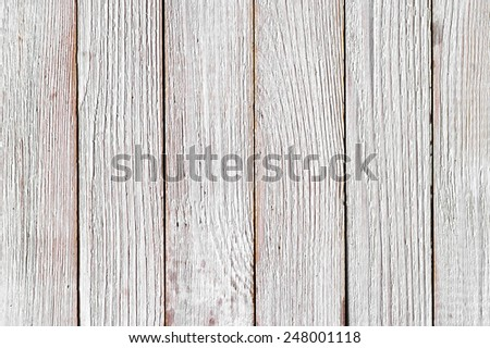 Rustic painted white wood plank texture background. - stock photo