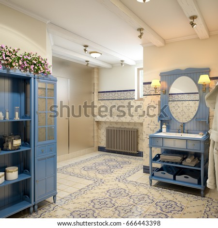 Mediterranean interior stock images royalty free images vectors shutterstock for Rustic mediterranean interior design