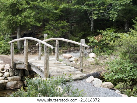 Small Wooden Footbridge