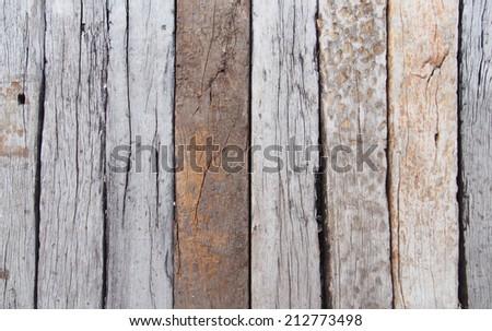 Rustic timber floor - stock photo