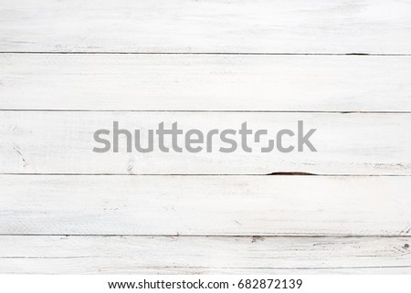 Rustic White Wood Plank Background. Vintage Style