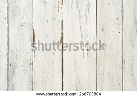 Rustic white wooden background - stock photo