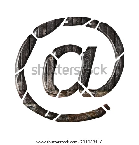 Rustic Wood Stone Style Sign Email Stock Illustration 791063116