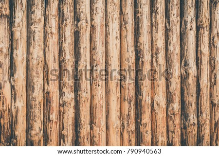 Rustic Wooden Background Logs Wooden Fence Stock Photo 790940563