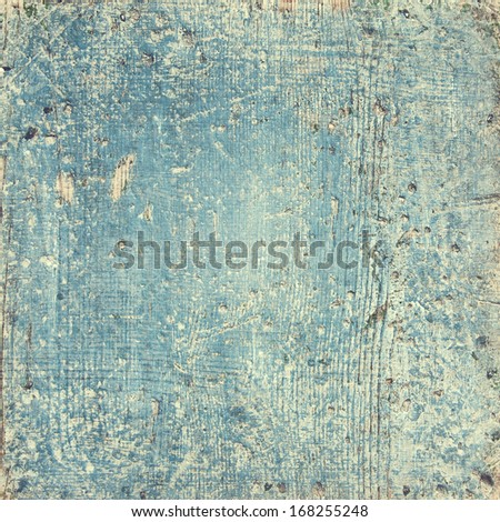 rustic wooden blue background - stock photo