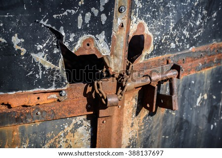 Rusty and damaged padlocked iron door. & Old Lock Stock Images Royalty-Free Images \u0026 Vectors | Shutterstock Pezcame.Com