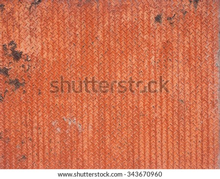 Rusty and decaying of steel panel - stock photo