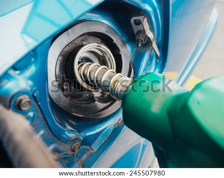 Rusty and dust oil, gas filling tank. - stock photo