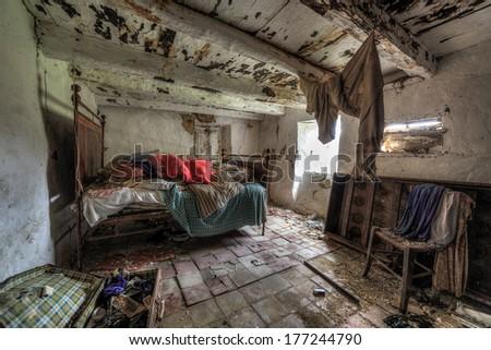 Rusty bedroom - stock photo