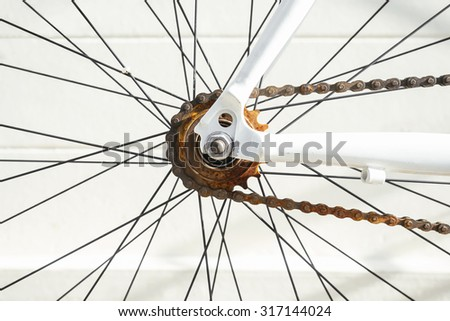 Rusty Bicycle Chain Maintenance and repairs