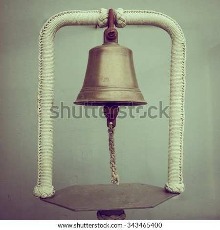 rusty brass bell, vintage style