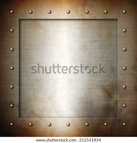Rusty brushed Steel frame background texture wallpaper - stock photo