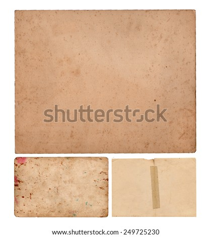 Rusty cardboards and paper - stock photo