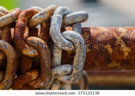 Rusty chain. - stock photo