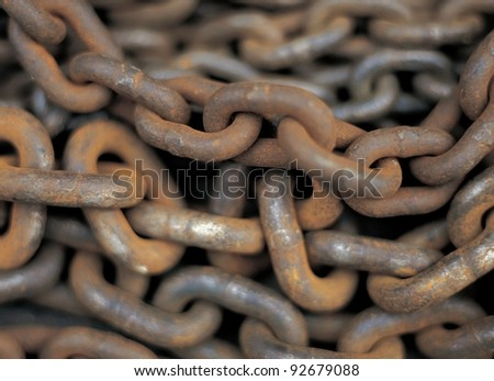 Rusty chain texture - stock photo