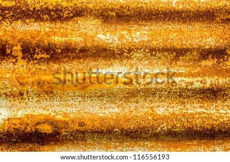 Rusty corrugated iron metal texture.