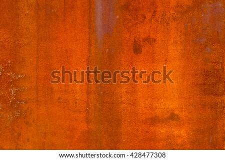 rusty corrugated iron metal texture - stock photo