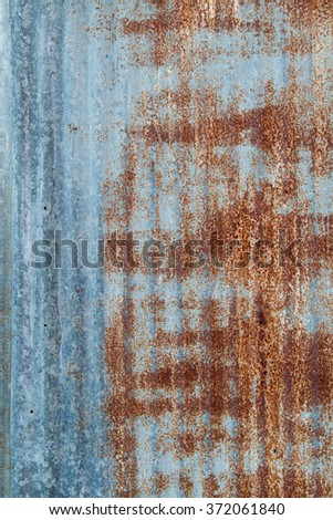 Rusty corrugated iron textured. - stock photo