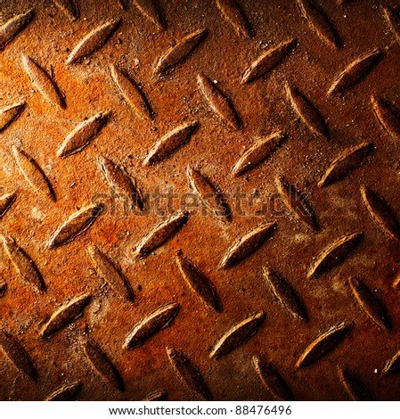 Rusty diamond metal texture - stock photo