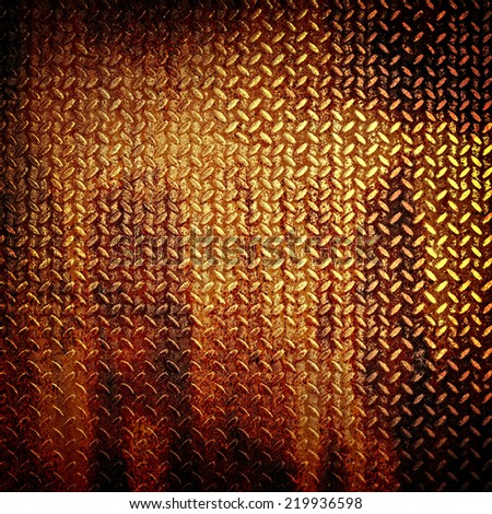 rusty diamond plate  - stock photo