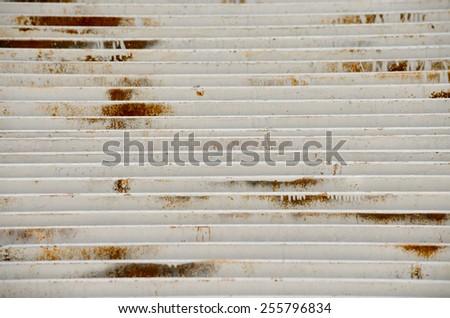 Rusty drain cap - stock photo