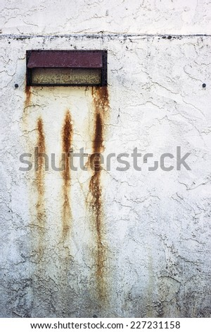 Rusty exterior wall - stock photo