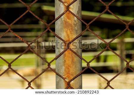 Rusty Fence Wire Vintage