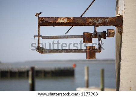 Rusty fishing scale
