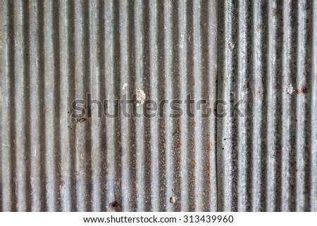 rusty galvanized iron door - stock photo
