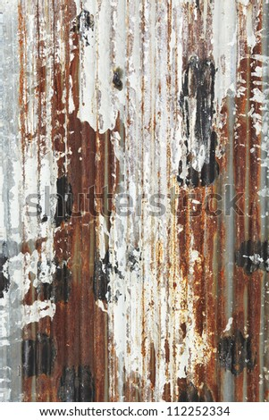 rusty grunge zinc plate - stock photo